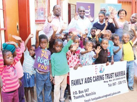 "Tsumeb children get ""We care"" message from Hollard"