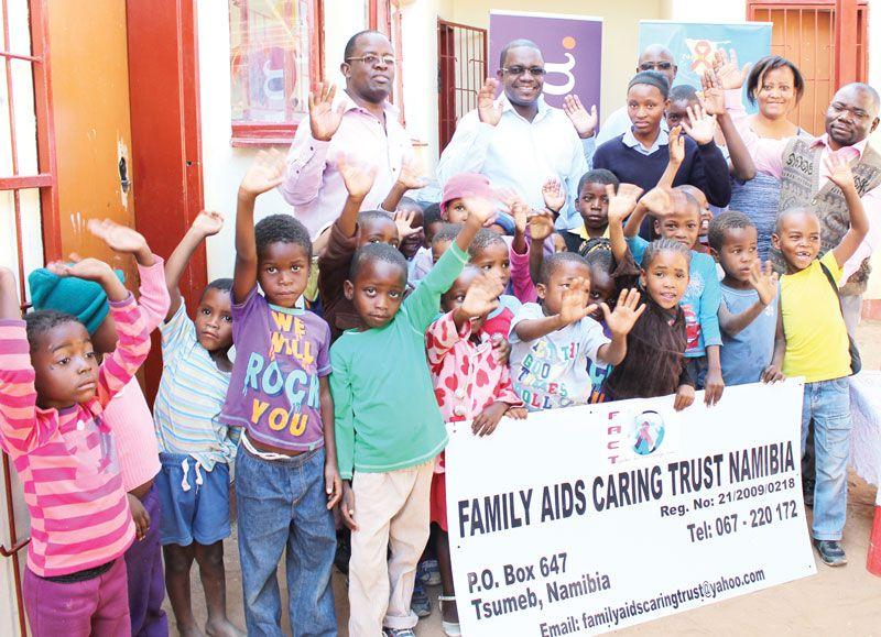 "Tsumeb children get ""We care"" message from Hollard"