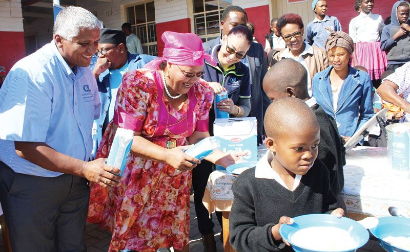 Nam Dairies fight against hunger