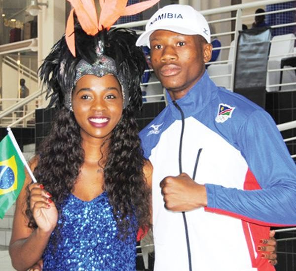 Jonas Junius, picture here during the Olympic send-off event two weeks ago, has been named Namibia's flag bearer for the Olympic Sommer Game.