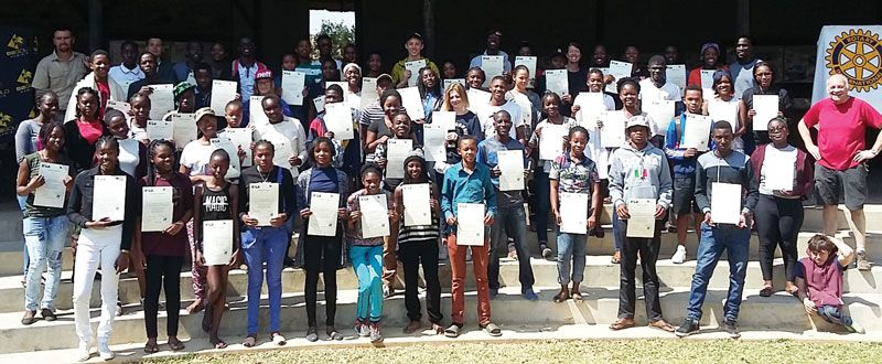 It was a joyous ceremony when 62 learners received their Challenge Plus leadership certificates at the annual Rotary Youth Leadership Awards hosted by B2Gold at its Otjikoto mine near Otjiwarongo.