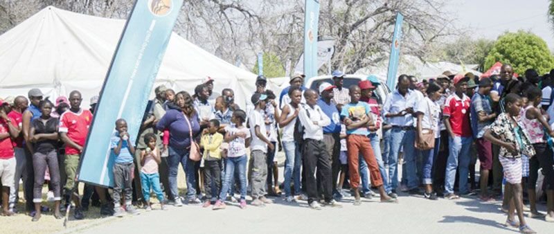 Crowds gather for Ongwediva opening