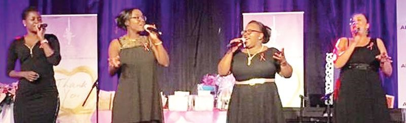 The lively vocal group, Essence wowed the large audience at the annual Hats & Roses fair. The talented foursome captured the crowd's attention with their superb performance of songs with a lady touch.