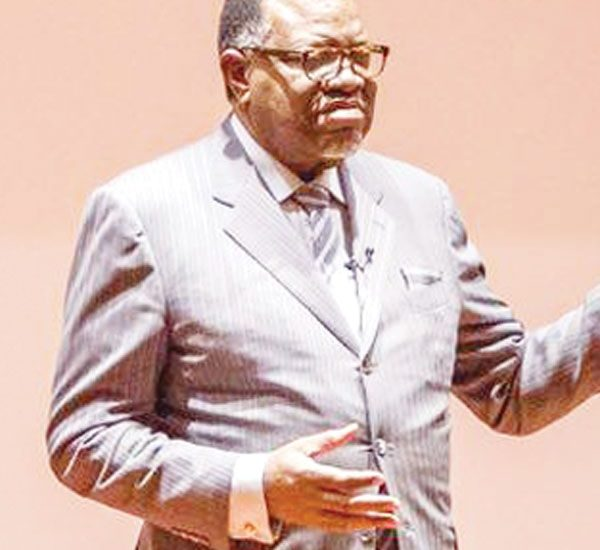 Head of State, HE President Dr Hage Geingob stating Namibia's perspective at the Namibia Commerce and Prosperity summit held in New York last week.