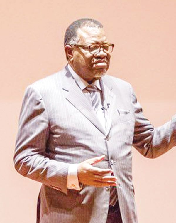 Hage states Namibia's perspective