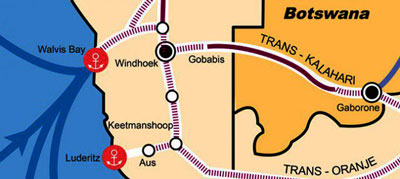 Trans-Kalahari through-way expanded