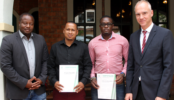 Namibian soccer coaches receive their coaching certificates