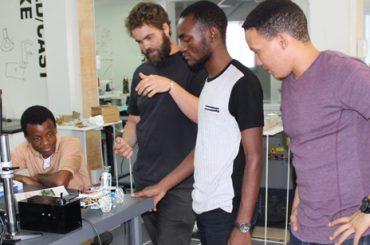 FABlab robotics team built first Namibian robot