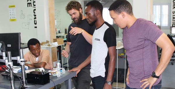 FABlab robotics team built first Namibian robot