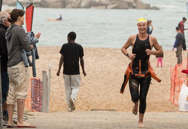 Rough sea sinks swimmers in Swakopmund Sandman Ultra