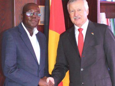German diplomacy for local German-speaking diplomat