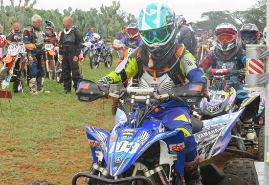 Offroad bike championships kick-start