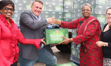 Refreshing Windhoek Lager comes with the rain