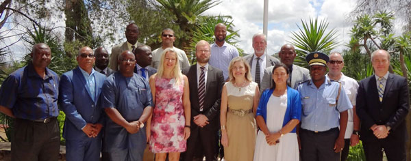 Suomi talk disaster preparedness with Namibian authorities