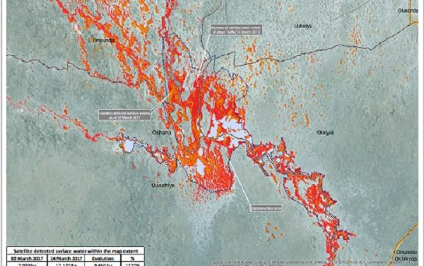 Lake Oponono in Oshana region grows threefold