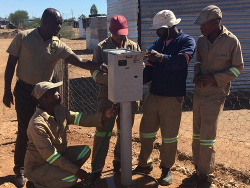 Mariental Municipality installs services for land grabbers