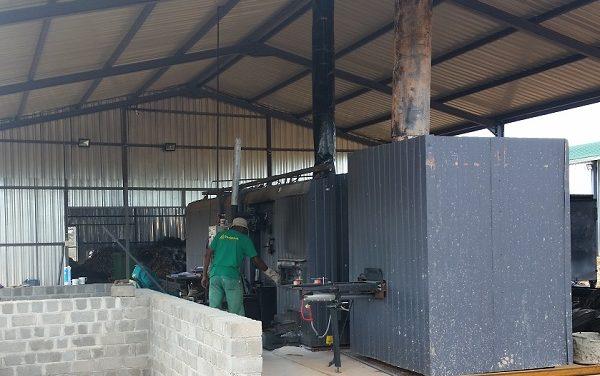 "New kiln makes ""green"" charcoal using Cheetah Fund's Bushblocks"