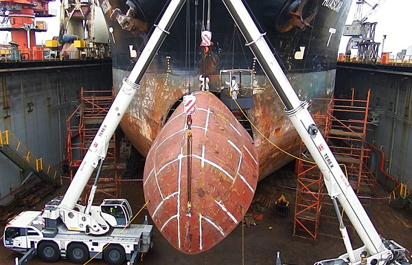 Replacing a ship's bow no problem for EBH