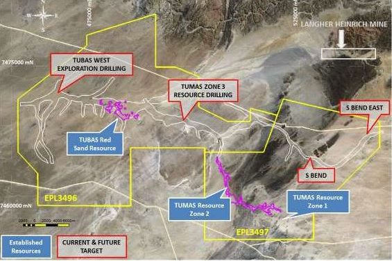 First results come up positive for Langer Heinrich type uranium mineralisation