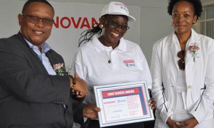 NovaNam awards first employee to reach 25-year landmark