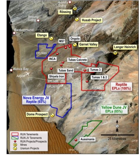 Most recent drilling results at Tumas 3 point to significant uranium mineralisation
