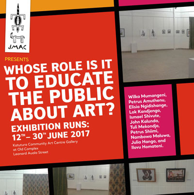 Whose role is it to educate the public about art?