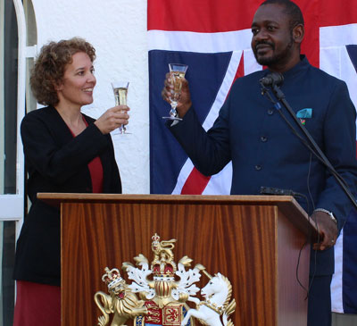 Namibia celebrates the Queen's birthday the English way