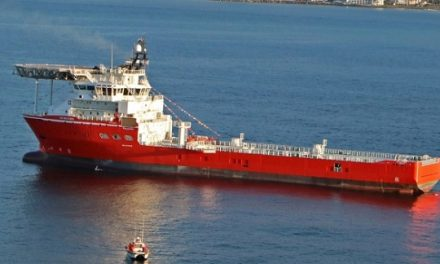 Diamond mining vessel SS Nujoma arrives in Namibian waters