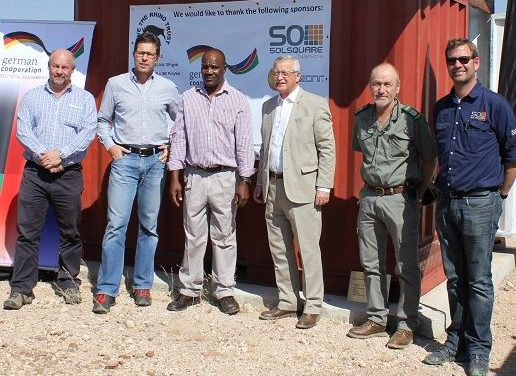 Upgraded solar plant helps improve rhino surveillance and protection