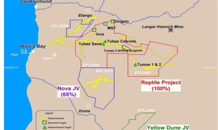Exploration at Tumas 3 encounters high uranium mineralisation