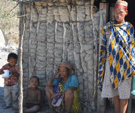 SAN community undergoing cultural, climate and socio-economic change