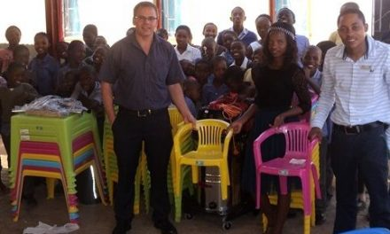 Tsumeb pre-schoolers get tables and chairs to eat and learn
