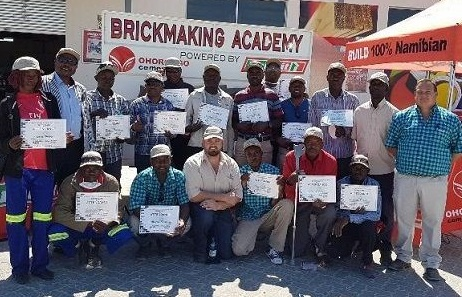 Education officials join brickmaking academy in Outapi