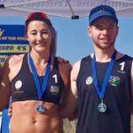 Beach volleyball series produces athletic point winners