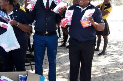 300 disadvantaged school girls get sanitary wear