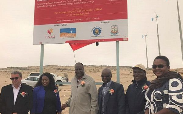 Pilot wind power plant at Lüderitz transferred to local authority