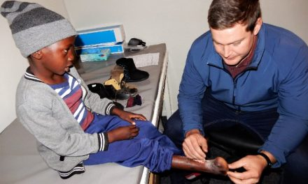 New prosthetic foot and shoe return maimed boy to normal life