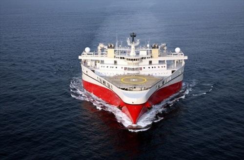 Behemoth oilseeker docks in Walvis Bay harbour after sortie in South Atlantic
