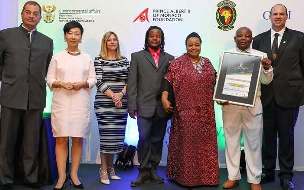 SRT rangers honoured by Rhino Conservation Awards for their battle against poaching