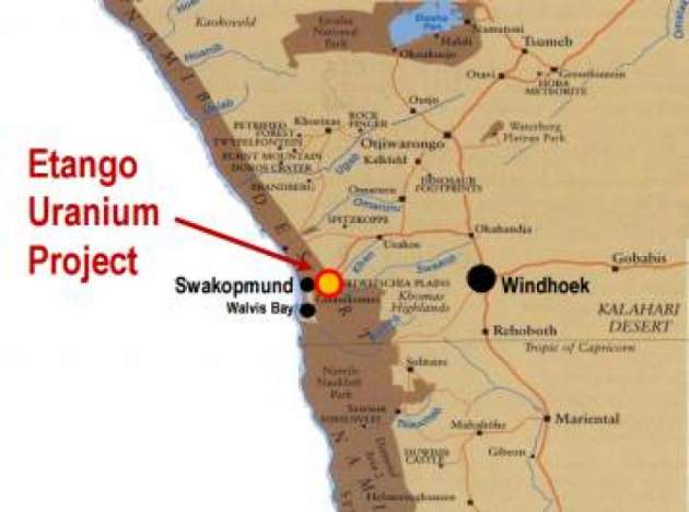 Bannerman granted five year extendable term over its 95% owned Etango Uranium Project