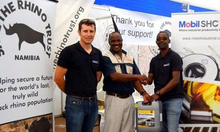 Mobil oil keeps Rhino Trust vehicles in the field to keep poachers out