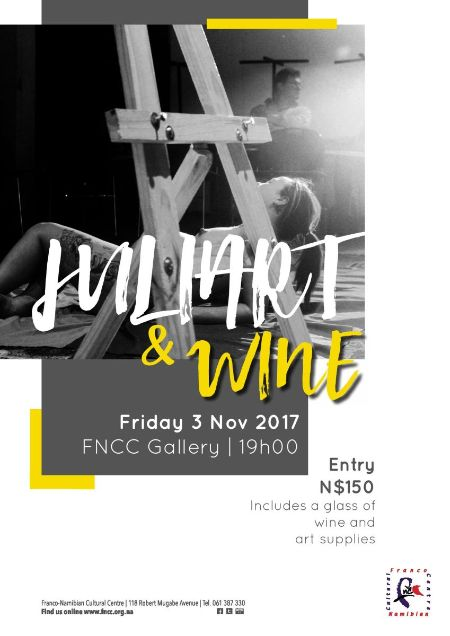Enjoy wine and live drawing this Friday at the FNCC