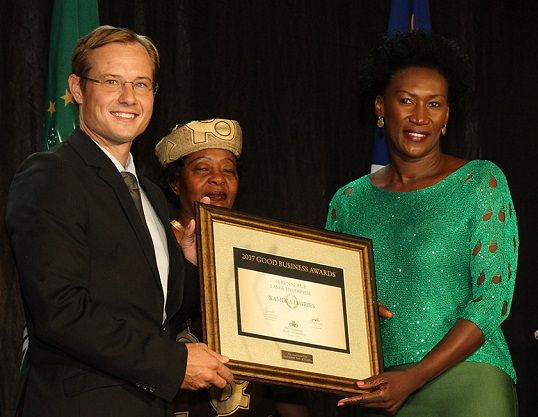 Namibia Dairies is the  first runner-up in the Good Business Awards Large Enterprise category.
