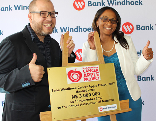 Cancer Apple project rakes in N$3 million