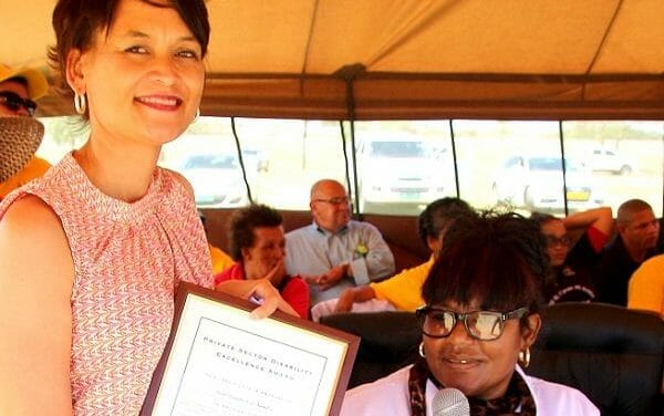 Support for the disabled earns Champion Award on commemorative day