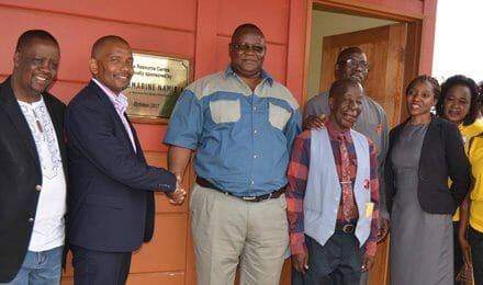 Debmarine hands over a newly constructed Resource Centre to Gobabis School