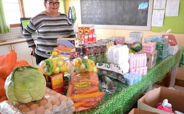 Manica staff goes overboard with groceries for two Walvis Bay charity homes