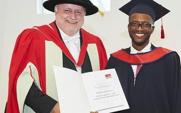 First Namibian youth to get Masters in Logistics from German university