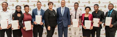 Undergraduate students awarded bursaries by central bank