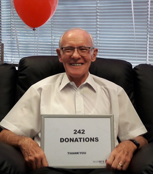 Not all heroes wear capes – Blood donor retires after 242 donations